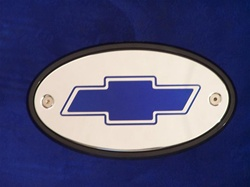 Blue Chevy Hitch Receiver Cover