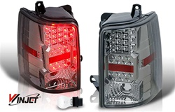 93-96 Jeep Grand Cherokee LED Tail Light - Chrome/Smoke