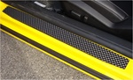 2010 Camaro Billet Aluminum Black Diamond-Cut Door Sills by Realwheels