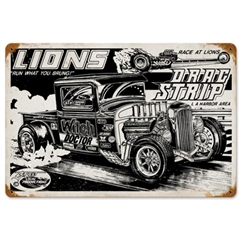 "Lions Dragstrip 32 Ford Pickup ""Witch Doctor""  Tin Sign by SLP"