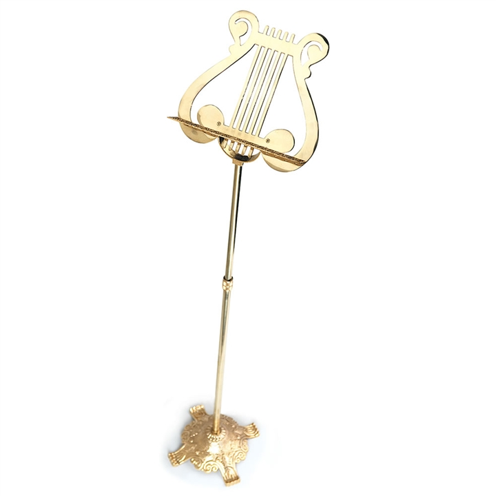 Classic Brass Music Stand With Harp Desk At The Music Stand