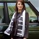 Long Piano Keys Black & White Scarf