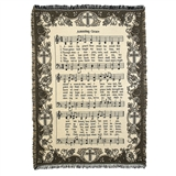 Amazing Grace Words & Music Throw