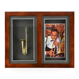 Shadowbox Frame with Instrument