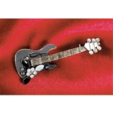 Electric Guitar with Flower Pin