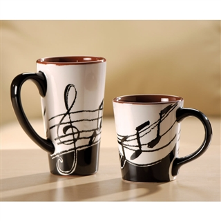Music Notes Coffee Mug At The Music Stand
