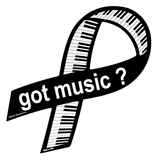 Got Music? Keyboard Ribbon Magnet