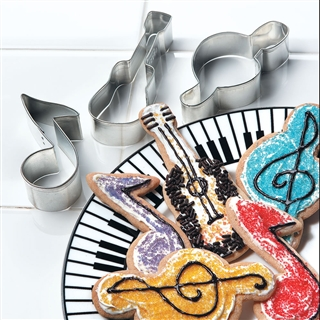 Music Motif Cookie Cutters