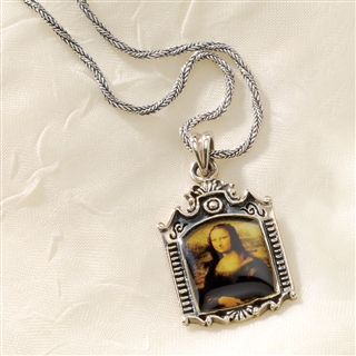 Mona Lisa Silver Necklace