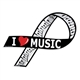 I Love Music Ribbon Magnet
