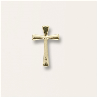 Flared Cross Gold Pin