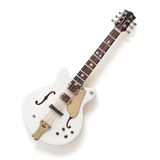 White Semi-Hollow Guitar Fridge Magnet