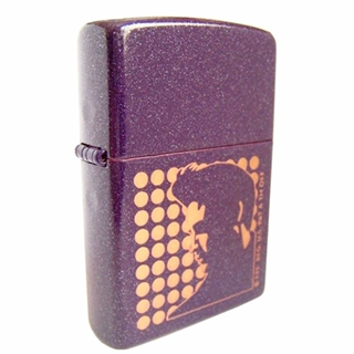 Elvis Purple Shimmer Zippo Lighter