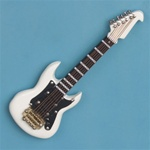 White Electric Guitar Magnet