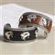 Leather with Grand Pianos Cuff Bracelet
