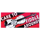 Fiddle Around Bumper Sticker