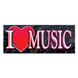I Heart Music Bumper Sticker
