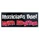 Musicians Duet With Rhythm Bumper Sticker