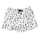 Women's Flannel Music Motif Boxer Shorts
