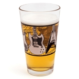 Electric Guitars Pint Glass