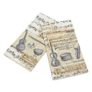 Musical Serenade Guest Towels