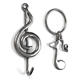 Pewter Musical Keychain and Wall Hook