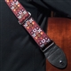 Woodstock Red Seatbelt Guitar Strap