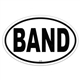 Oval Band Bumper Sticker