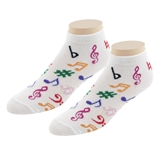 Ladies' Jazzy Notes No-Show Socks