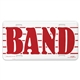Band License Plate Sign