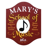 Personalized School of Music Sign