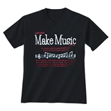 God Said Make Music Black T-Shirt