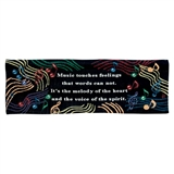 Music Touches Feelings Tapestry Banner