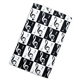 Black and White Music Notes Tea Towel