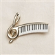 G-Clef and Keyboard Pin