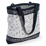 Classic Music Notes Tapestry Tote