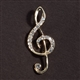 G-Clef with Crystals Pin