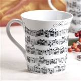 White Sheet Music Mug