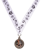 Music Notes Laurel Wreath Medal