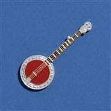 Banjo Enameled Pin