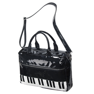 Vinyl Piano Keyboard Tote