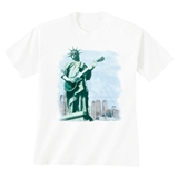 Lady Liberty on Guitar T-Shirt