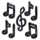3-D Music Notes Decorations