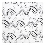 Piano Keys and Notes Bandana