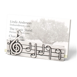 Pewter Music Score Card Holder