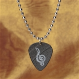 Recycled Vinyl Treble Clef Necklace