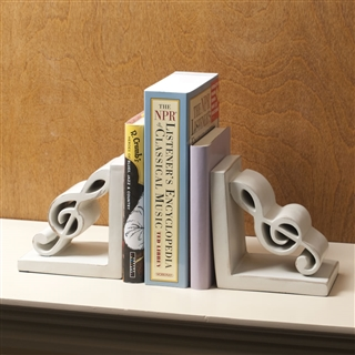 Treble clef bookends at the music stand - Treble clef bookends ...