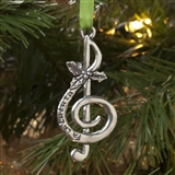 Fa La La Treble Clef Ornament