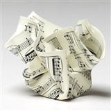 Crumpled Sheet Music Paperweight