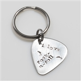 I Love Rock 'n' Roll Pick Keychain